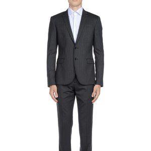 Bikkembergs Slim Fitted Tonal Pinstripe Suit, 38R